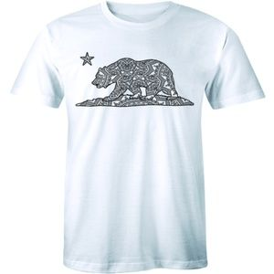 California Bear T-shirt Cali Souvenir State Map